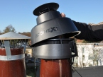 CoxDENS plaque de connection pour l'ECONEXT Chimney Cover, Cox Geelen
