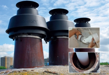 cox geelen Chimney cover coxdens pps flex concentrisch