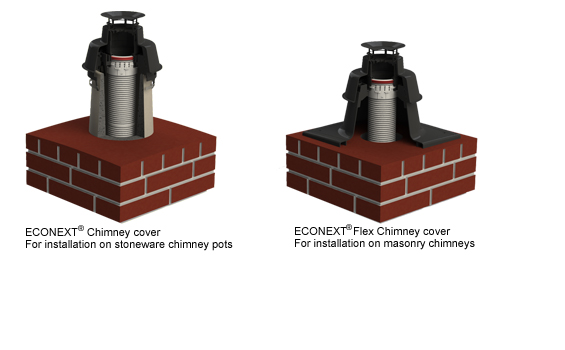 Renovation solution ECONEXT Chimney cover